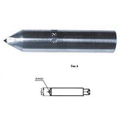 Алмаз в оправе 3908-0124, d=7.0, L18мм, угол 120гр., 0,26 карат - фото 6036