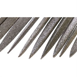 Надфиль Алмазный плоский L120 остроносый АС 6 160/125 2,3кар. - фото 6305