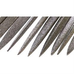 Надфиль Алмазный трехгранный L140х3 с обрезиненной ручкой - фото 6338