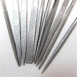 Напильник алмазный 3-х гранный 200мм (р.ч.185мм) 125/100 с пластмассовой ручкой - фото 6341