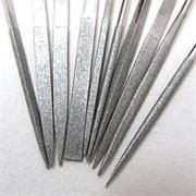 Напильник алмазный плоский остроносый 200мм (р.ч. 190мм) 125/100 с пластмассовой ручкой