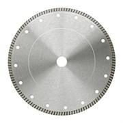 Диск отрезной алмазный Для влажной резки 230х2,4х5х22,23мм с непрерывной реж. Кромкой
